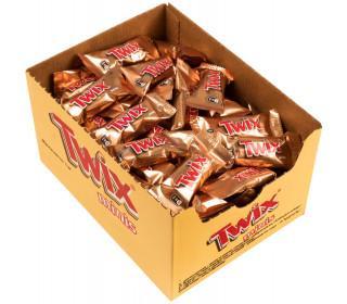 Конфеты шоколадные minis, развесные, Twix, 2,7 кг., коробка