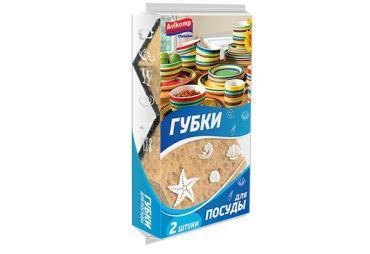 Губка для посуды Avikomp Clein Set Коралл фигурная 2шт.