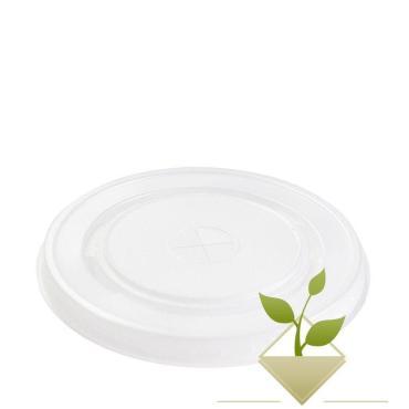 Крышка для стаканов, для холодного d=90 мм., прозрачная, ПС., 100 шт/уп., 1200 шт/кор., Паперскоп рус, пластиковый пакет