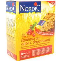 Галеты Nordic из овса с брусникой