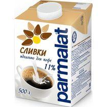 Сливки для кофе ультрапастеризованные 11% Parmalat , 500 мл., тетра-пак