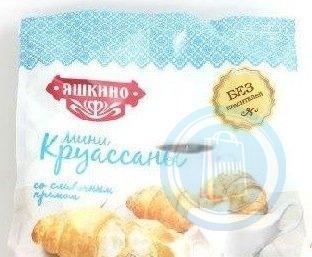 Мини-круассаны со сливочным кремом,  Яшкино, 180 гр., флоу-пак