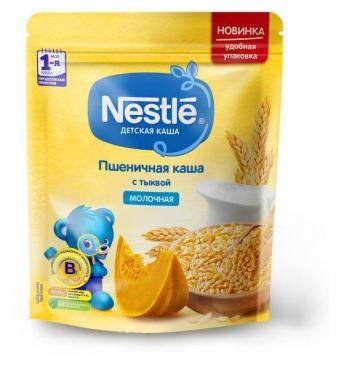 Каша Nestle молочная пшеничная с тыквой с 5 месяцев