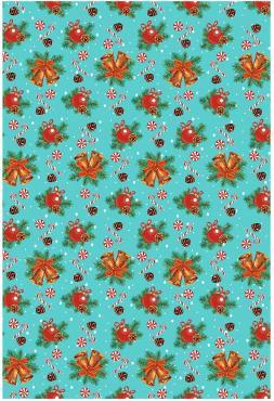 Скатерть Мультидом Новогоднее настроение, цвет: бирюзовый, 148 х 148 см