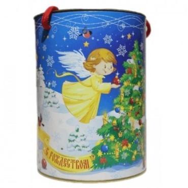 Новогодний подарокКондитерский дом Белочка Рождество туба эконом сладкий