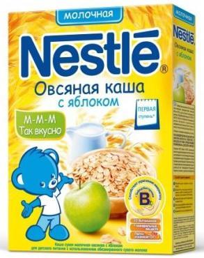 Каша сухая молочная NESTLE Овсяная с яблоком 220г