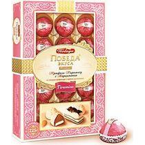 Шоколадные конфеты Трюфели, Тирамису с марципаном, в горьком шоколаде, с сыром маскарпоне, Победа Вкуса, 225 гр., Картонная коробка