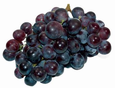 Виноград темный мытый