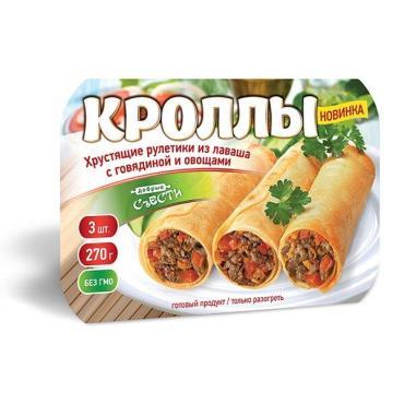 Кроллы Сытоедов с курицей и грибами, 270 гр., пластиковая упаковка