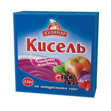 Кисель Кулинар Плодово-ягодный на натуральном соке