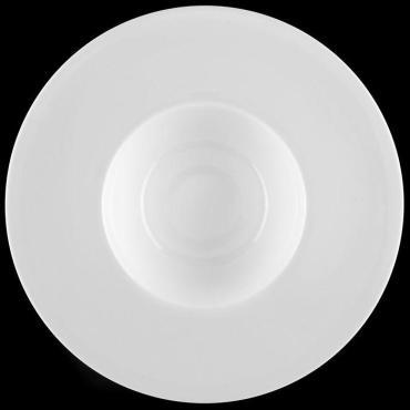 Тарелка для пасты Wilmax England 600 мл. 25,5 см. фарфор белый