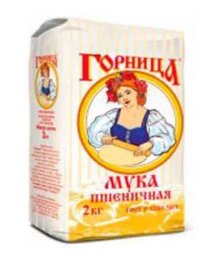 Мука пшеничная высшего сорта Горница, 2 кг., бумажная упаковка