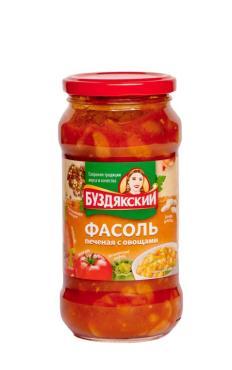 Фасоль Буздякский печеная с овощами