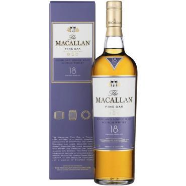 Виски Macallan Single Speyside Malt Fine Oak Single Malt 18 лет односолодовый 43%