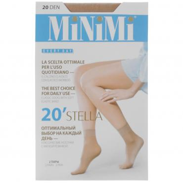 Носки женские MiNiMi Stella 20 Den caramello 2 пары а/п
