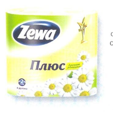 Туалетная бумага Zewa Ромашка 2 слоя 4шт