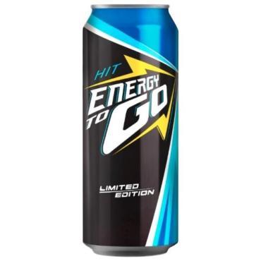 Напиток безалкогольный тонизирующий (энергетический) газированный, Hit, Energy to Go, 450 мл., ж/б