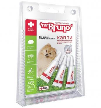 Капли репеллентные для щенков и маленьких собак Mr.Bruno 3 шт.