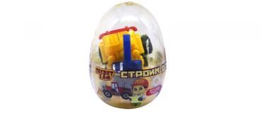 Жевательная резинка Secret Lab Строим дом со вкусом апельсина в яйце с игрушкой