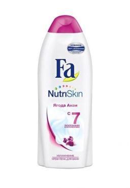 Крем-пена для ванн Fa NutriSkin Увлажнение Ягоды акаи, 500 мл., пластиковая бутылка