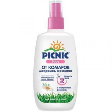 Спрей Picnic Baby от комаров, мокрецов, москитов с экстрактом ромашки для детей от 1 года