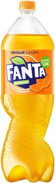 Газированный напиток Апельсин РФ, Fanta, 2 л., ПЭТ