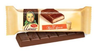 Батончик Шоколадный Вкус крем-брюле, Алёнка, 42 гр., флоу-пак