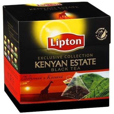 Чай Lipton Kenyan Estate черный в пирамидках