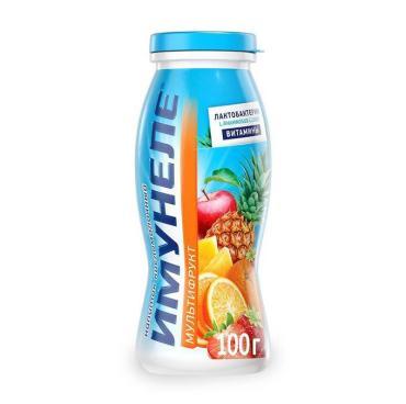 Напиток кисломолочный Мультифрут 1,2 % Neo Imunele, 100 гр., пластиковая бутылка