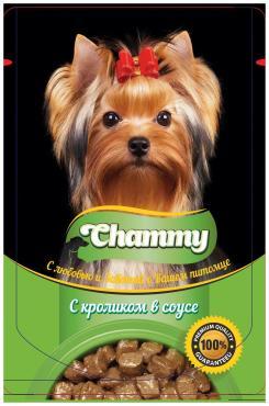 Корм кон для собак Chammy с Кроликом в соусе
