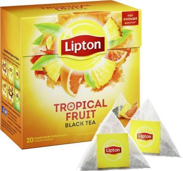 Чай Lipton Tropical Fruit черный 20 пак