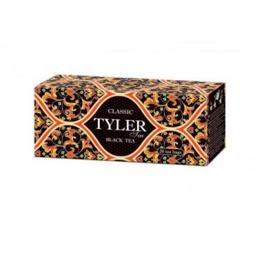 Чай черный байховый Tyler Classic 20 пакетов, 36 гр., Картонная коробка
