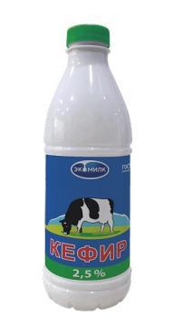Кефир 1%, Экомилк, 930 гр., пластиковая бутылка