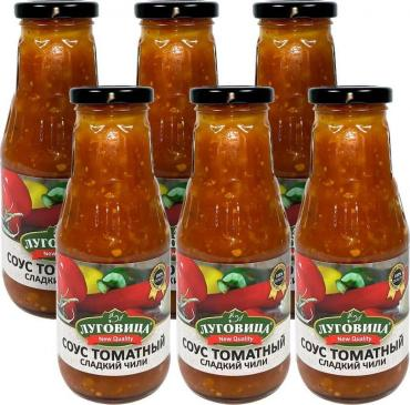Соус томатный сладкий чили , Луговица, 330 гр, стекло