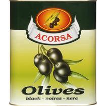 Оливки Acorsa черные без косточки