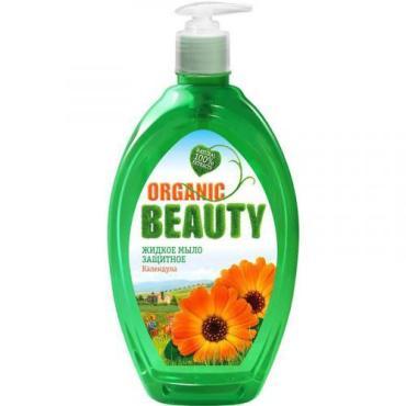Мыло жидкое защитное Organic Beauty, 500 мл., Флакон с дозатором