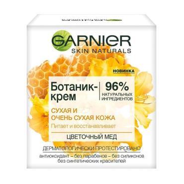 Ботаник-крем для лица Garnier цветочный мед питающий для сухой и очень сухой кожи