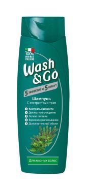 Шампунь Wash&Go С экстрактами трав Для жирных волос