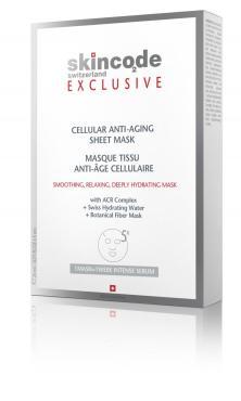 Маска для лица Skincode Exclusive Клеточная антивозрастная маска 5 шт.