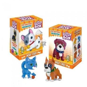 Карамель леденцовая Happy Box Сладкая Сказка Мяу-Гав с игрушкой