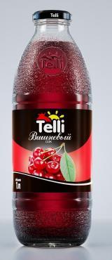 Сок вишневый Telli, 1 л., Стекло