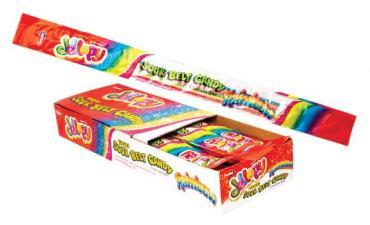 Мармеладная Лента Тутти Фрутти Sour belt candy Rainbow, Jellopy, 10 гр., Флоу-пак