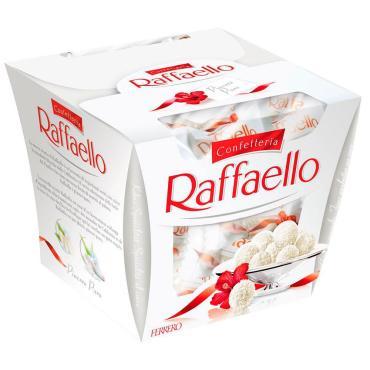 Конфеты с цельным миндальным орехом в кокосовой обсыпке , Raffaello, 150 гр., картон