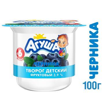 Творог фрукт Агуша черн 3.9% 1х6х100г Ван NEW