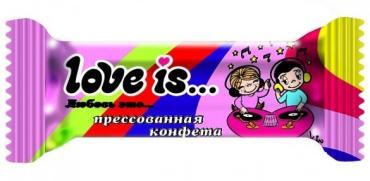 Прессованная конфета Love is