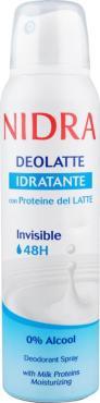 Дезодорант Nidra Deolatte Idratante Invisible увлажняющий с молочными протеинами