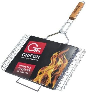 Решетка Grifon для гриля и барбекю 36*27*3см