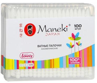 Ватные палочки Maneki 100 шт