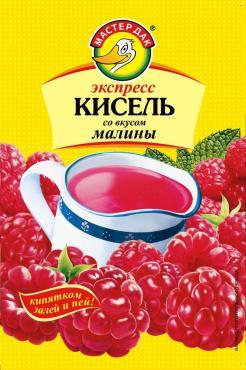 Кисель Малина экспресс Мастер Дак, 30 гр., бумага