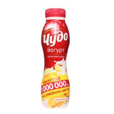 Йогурт питьевой Чудо Персик Манго Дыня 2,4%